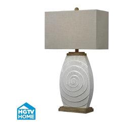 Dimond Lighting - Dimond Lighting HGTV250 HGTV Home Fauborg Glaze & Light Wood Tone Table Lamp - Features: