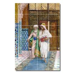 Picture-Tiles, LLC - Returning Home Tile Mural By Rudolf Ernst - * MURAL SIZE: 36x24 inch tile mural using (24) 6x6 ceramic tiles-satin finish.