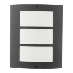 Eglo - City Outdoor Wall Light - City 1 Light Outdoor Wall Light in Antracite Finish with Acrylic Glass