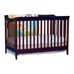 Stork Craft - Stork Craft Giovanna 2-in-1 Fixed Side Convertible Crib in Cherry - Stork Craft - Cribs - 04567234 - The Giovanna 2-in-1 Crib is Stork Craft's contemporary twist on a  classic sleigh design. With its simple elegance and ability to convert  to a full-size bed (with the separate purchase of a full-size  double-ended mattress rail) the Giovanna is the perfect crib for both  form and function.