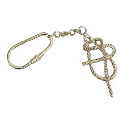 "Handcrafted Model Ships - Brass Sheet Band Knot Key Chain 5"" - Solid Brass Key Ring - Used for innumerable purposes, from fastening sails, to gaining mechanical advantages lifting gear, and rescuing sailors overboard, knots craft is both an vital science and fascinating art work. Used aboard ships since the dawn of sailing, knot work is found throughout any sailing vessel. Give this solid brass sheet band knot key chain to friends and family as a charming nautical symbol, and protect any keys with the same assurance as knots would sailors at sea."