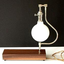 Walnut table lamp -