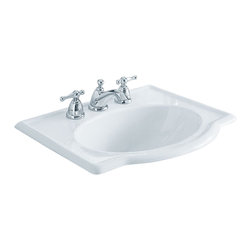"American Standard - Retrospect Self-Rimming Drop-in Bathroom Sink with 8"" Centers in White - American Standard 0291.008.020 Retrospect Self-Rimming Drop-in Bathroom Sink with 8"" Centers in White."