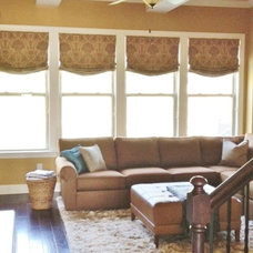 Traditional Roman Shades by Nashville Drapery, Bedding & Blinds