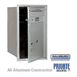 Salsbury Industries - 4C Horizontal Mailbox - 7 Door High Unit - Single Column - Stand-Alone Parcel Lo - 4C Horizontal Mailbox (Includes Master Commercial Locks) - 7 Door High Unit (27 Inches) - Single Column - Stand-Alone Parcel Locker - 1 PL5 with Outgoing Mail Compartment - Aluminum - Front Loading - Private Access