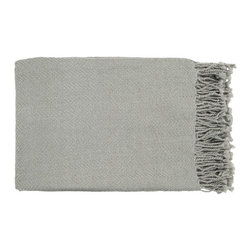 Malia Throw - Slate - Stay warm and cozy with the Malia Throw. Lovely fringe and a neutral gray hue makes this super soft throw a must-have for the colder months. Drape it over your shoulders on cool nights or simply place it over your favorite chair's armrest for a casual look.