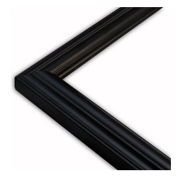 The Frame Guys - Narrow Concord Black Picture Frame-Solid Wood, 9x9 - *Narrow Concord Black Picture Frame-Solid Wood, 9x9
