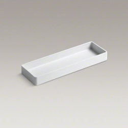 "KOHLER - KOHLER Utensil Tray for Stages 33"" and 45"" sinks - Add functionality to your Stages kitchen sink with this utensil tray. The tray rests securely on the ledge of the sink, offering a convenient compartment to store utensils while cooking or to safely soak knives and other utensils separately from other ite"