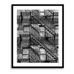 """Gallery Direct - """"Back Bay""""  22 x29""""Framed and Matted Print - Joseph has been praised for his photographic achievement in presenting style and grace within the landscape of concrete and steel. In his work, lines, shapes, and shadows converge, depicting urban images like the Brooklyn Bridge, Central Park, and Wall Street. He uses a careful blend of creativity and precision which have been compared to images of Constructivism and Bauhaus. His photographs can be found in the Santa Barbara Museum of Art, the Bass Museum of Art, in corporate collections including Royal Caribbean Cruise Line and H. Lee Moffit Cancer Center, and the private collections of Tony Bennett and Rudolph Guiliani.'"""