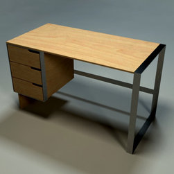Open Square Woodworking - Solid Maple Desk - Solid Maple  desk surface