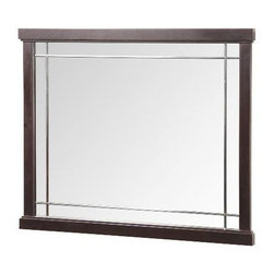 """Foremost - Foremost Zen 38 Vanity Mirror, Espresso (ZEEM3831) - Foremost ZEEM3831 Zen 38"""" Vanity Mirror, Espresso"""