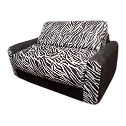 Fun Furnishings - Fun Furnishings Black Zebra Sofa Sleeper - 10209 - Shop for Childrens Sofas from Hayneedle.com! About Fun FurnishingsThis company was created in 1993 in response to a need for more furniture choices for kids who had outgrown cribs. Top quality foam sofa and chair sleepers were Fun Furnishings' debut pieces. They were an instant hit on the market. Since then the company has expanded their innovative designs and continues to create delightful quality furniture for all kids.