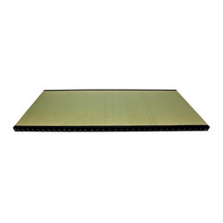 Oriental Unlimted - Euro Japanese Rush Grass Tatami Mat (King) - Choose Size: KingIncludes a moisture resistant barrier in the foundation of the mat. Tatami mats are constructed of Japanese Rush grass with a double layer top for extra protection. Inside is a baked dried rice straw fill for strength and durability. Sewn with a Black fabric border and bound with twine. Full: 78.7 in. L x 27.5 in. W x 2 in. H (60 lbs.). Queen: 78.7 in. L x 31.5 in. W x 2 in. H (65 lbs.). King: 78.7 in. L x 35.4 in. W x 2 in. H (70 lbs.)Straight from the Far East, where they have been making Tatami for hundreds of years. Tatami mats started as floor coverings and were also used to make chairs or benches by placing several Tatami on top of each other. When they were first made, Tatami mats were seen as luxury items for the wealthy when most people had dirt floors. Another function of Tatami was to indicate rank. The most exalted members of a ceremony or gathering were given the privilege of sitting on the Tatami, while others sat on the wooden floor. Tatami mats are much more widely used today, but are still employed for Japanese religious rites and tea ceremonies. Our Tatami mats can be used in a variety of ways. Floor coverings are the most popular option, but benches, stools, tables and desks can also be constructed using multiple Tatami.