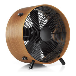 Quiet Sapele Wood Fan - This beautiful African sapele wood fan has three settings and stands on convenient height-adjustable legs. Plus, it's so quiet that the only way you know it's there is by how delightfully cool you feel.