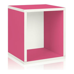 Way Basics - Way Basics Storage & Organizers zBoard Eco 15.5 in. x 13.4 in. Pink Stackable - Shop for Storage & Organization at The Home Depot. Stackable Modular Storage-cubes Plus. Simple design solution and eco friendly furniture. An excellent home organizer for modern living. Behold our most basic creation flexing its muscles. Truly modular in every sense of the word there are endless configurations and possibilities for the design guru. Each Cube is separate from each other so you can satisfy your design itch when you feel like changing things up a bit. Stack them side to side on top of each other or get creative and build a pyramid and ladder design. Mix and match colors or just keep it simple with a single shade. Check out the additional images for ideas and send us your creations too. To assemble zBoard storage products simply peel stick done. Tool-free and hardware free. Super strong 3M heavy duty adhesive bonds the boards together. All our products are formaldehyde free and VOC free so it's safe for your family and our environment. Color: Pink.