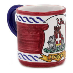 Artistica - Hand Made in Italy - PALIO DI SIENA: Torre mug - PALIO DI SIENA Collection: The Palio di Siena is a tournament as a replica of a medieval horse race which is ran twice year, during the summer season, in the city of Siena, located in the beautiful Tuscany region.
