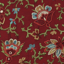 Red Floral Custom Made Embroidered Dupioni Silk Curtains - These curtains come in a wide range of color designs and can easily be fitted to a variety of window sizes. Combined with luxurious silk fabric, the sheen makes it perfect for perky style requirement.
