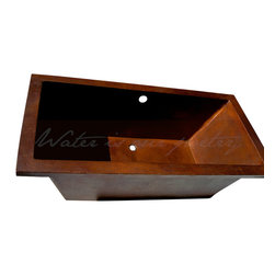 "Artesano Copper Sinks - Drop in Rectangular Copper Bathtub - Drop in Rectangular Copper Bathtub - 72 x 36 x 24"" (L x W x H) , all hand made, all copper, all hammered"