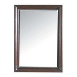 Stanley Furniture - Transitional-Landscape Mirror - Good modern design is all about clean lines and simple styling, something the Landscape Mirror has in spades. The focus of the piece is the rich, multi-dimensional finish, Polished Sable. It starts with a cola-hued undertone that is topped with a black burnish. Next the finish is stippled to create a tortoise shell-like effect that is completed with an English paste wax. The end result is a visually compelling addition to any wall.