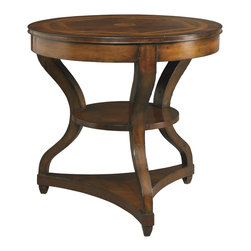 Sherrill Occasional - Sherrill Occasional Round Lamp Table 960-637 - A handsome addition to our Masterpiece Estate Collection. Reflecting a well used but waxed and polished antique this amp table exudes an antique charm. Hand planed top in a antique mahaogany finish.