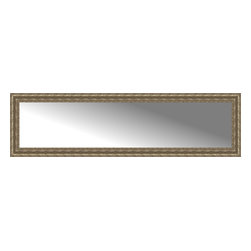 """Posters 2 Prints, LLC - 72"""" x 20"""" Sevilla Silver Custom Framed Mirror - 72"""" x 20"""" Custom Framed Mirror made by Posters 2 Prints. Standard glass with unrivaled selection of crafted mirror frames.  Protected with category II safety backing to keep glass fragments together should the mirror be accidentally broken.  Safe arrival guaranteed.  Made in the United States of America"""