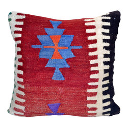 "Authentic Turkish Import. - Large 20""X20"" Kilim Throw Pillow Cover - 20""decorative throw pillows, shabby chic pillows, throw pillows sofa, throw pillows, burlap pillows, decorative pillow covers, couch pillow,"