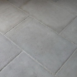 Gray Barr Reedition Aged French Limestone Flooring - Rustic Patina, Distressed Edges and a durable Surface make this stone a great selection for Kitchens, Living Rooms and other high traffic areas.  Finished with our durable French Floor Wax this stone will withstand wear and tear and at the same time provide a French Country Atmosphere.
