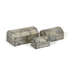 """IMAX CORPORATION - Freshwater Shell Box - Set of 3 - Freshwater Shell Box. Set of 3 boxes in varying sizes measuring approximately 3-4-5.25""""H x 2-2.75-3.5""""W x 1.75-2.25-2.5"""" each. Shop home furnishings, decor, and accessories from Posh Urban Furnishings. Beautiful, stylish furniture and decor that will brighten your home instantly. Shop modern, traditional, vintage, and world designs."""