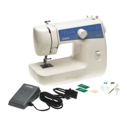 Brother Sewing - Basic Sewing Mending Machine - Brother LS2125i Easy-to-Use Everyday Sewing Machine with 10 stitches including Blind Hem and Zigzag and 4-Step Auto Buttonhole - Full size lightweight portable sewing machine great for alterations and everyday sewing. 10 built-in stitches including blind hem zigzag and stretch stitches. Automatic 4-step buttonhole feature allows you to create custom-sized buttonholes to fit your specific buttons. Free arm or flat bed usage carrying handle built-in storage 3 presser feet and more. Includes bilingual instruction manual 25 year limited warranty with free phone support for the life of the product.