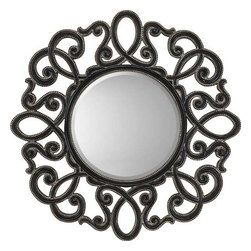Paragon Art - Paragon Round Silver/Black - Round Silver/Black ,  Paragon Beveled Mirror       Mirror size is 20h 20w. , Paragon has some of the finest designers in the home accessory industry. From industry veterans with an intimate knowledge of design, to new talent with an eye for the cutting edge, Paragon is poised to elevate wall decor to a new level of style.
