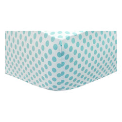 New Arrivals - New Arrivals Crib Sheet - Ocean Avenue - The New Arrivals Crib Sheet - Ocean Avenue is a perfect match for your New Arrival Crib Bedding Set. Size 27.5W x 51L x 8H Fits Standard Size Crib Mattress. Custom made in the USA. Please allow 3 - 4 weeks for delivery.