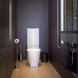 Purple wall color powder room design ideas pictures - Appartement duplex winder gibson architecte ...