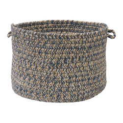 """Colonial Mills, Inc. - Tremont, Denim Utility Basket, 14""""X10"""" - Rugged yet soft — just like your favorite faded jeans. This braided utility basket boasts a wonderful wool blend and can fit seamlessly with just about any casual decor."""