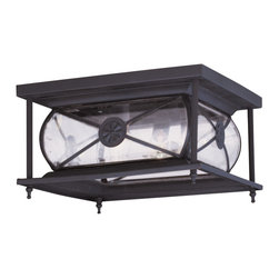 Livex Lighting - Livex Lighting 2090-07 Outdoor Ceiling Mount - Glass Type/Shade Type: Clear Beveled Glass