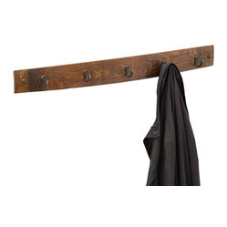 Reclaimed Wine Barrel Coat Hook - This Reclaimed Wine Barrel Coat Hook would warm up any entrance. Each is unique and handcrafted by artisans in Texas.