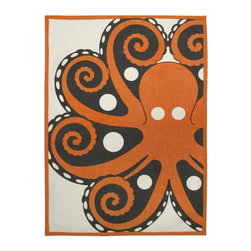 Thomas Paul - Amalfi Octopus Tea Towel - Bold, graphic, colorful; these are words often used to describe crazy uncles and women's fashion, but they are also the perfect words to describe the textile collection of design industry darling Thomas Paul. His cheerful prints are the perfect addition to any space or wardrobe needing a splash of color.  The Amalfi collection is inspired by the glamorous and alluring, Amalfi Coast in Italy, during the 1960's. A fun collection of bold prints in vibrant hues and vintage themes, for your home and any seaside escape. Happy travels!