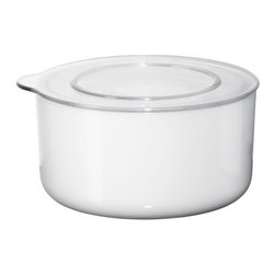 Henrik Preutz - LJUST Jar with lid - Jar with lid, white, clear
