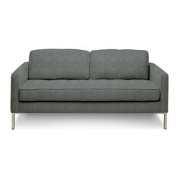 """Blu Dot - """"Blu Dot Paramount Studio Sofa, Ceramic"""" - """"As comfortable as your favorite jeans. As versatile as a little black dress. This classic sofa can go anywhere in style but don't be surprised if it steals the limelight in its own quiet way. Available in ash, ceramic, graphite, lead, oatmeal, smoke or stone. """""""