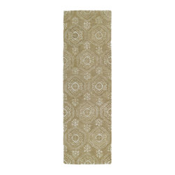 """Kaleen - Transitional Divine Hallway Runner 2'6""""x8' Runner Light Brown Area Rug - The Divine area rug Collection offers an affordable assortment of Transitional stylings. Divine features a blend of natural Light Brown color. Hand Tufted of Wool & Viscose the Divine Collection is an intriguing compliment to any decor."""