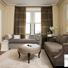 Traditional Living Room by Encore Decor Interior Design + Renovation NYC