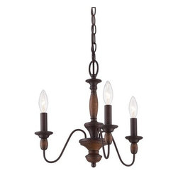 Quoizel - Quoizel HK5003 Holbrook 1 Tier Chandelier with 3 Lights - An ideal addition to your home, this glamorous chandelier features 1 tier and 3 lights.Features: