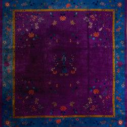 "Chinese Art Deco Carpets - #20931 Chinese - Art Deco 13'0"" x 13'6"""