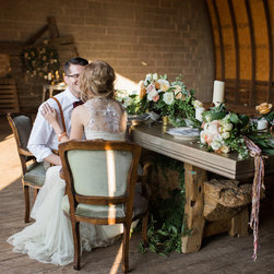 """Cast Bronze Table - We were commisioned to create this beautiful 4"""" thick cast bronze table.  Incorporates a one of a kind solid teak base. Photos by Lauren Fair Photography"""