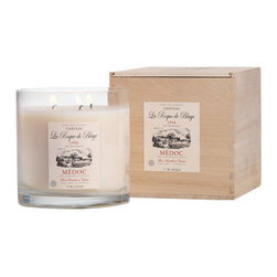 Zodax - Zodax Wine La Roque de Blaye Medoc Scented Candle Jar (Set of 2) - Zodax - Candle Holders / Lanterns - IG2135S - Wine Scented Candle Jar in Crate