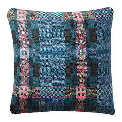 Donna Wilson, SCP - Square Bora Da Pillow - Forest - Donna Wilson, SCP - Bora Da is the new traditionally made Welsh textile designed by Donna Wilson for SCP, it follows on from the popular Nos Da collection from the same mill. The Bora Da fabric is made from British wool that is specially spun and dyed in England and then woven in Wales by a traditional mill that has been in the same family for over a century. Bora Da uses a single ply fine wool, which is both soft and strong. The result is a fine fabric that is lighter in nature than its sister fabric Nos Da. Using a time-honored double cloth weaving technique Donna has been able to create a pleasing multi-layered aesthetic, full of character. SCP and Donna Wilson are delighted to tap into the rich thread of British textile. Made in the UK. Each pillow has a 100% feather insert.