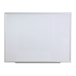 Universal - Universal 48 x 36 in. Melamine Dry Erase Board Multicolor - UNV44636 - Shop for Dry Erase Boards from Hayneedle.com! Made of high-quality melamine with an aluminum frame the Universal 48 x 36 in. Melamine Dry Erase Board is sturdy long lasting and attractive. It includes an attachable marker tray for effectively keeping accessories within easy reach. This board comes with a mounting hardware which makes it possible to install horizontally or vertically as per your choice. The dry erase board is perfect for use in classrooms meeting rooms etc.About United StationersDedicated to making life in the office more organized efficient and easier United Stationers offers a wide variety of storage and organizational solutions for any business setting. With premium products specifically designed with the modern office in mind we're certain you will find the solution you are looking for.From rolling file carts to stationary wall files every product in the United Stations line is designed with one simple goal: to improve office efficiency. In turn you will find increased productivity happier more organized employees and an office setting that simply runs better with the ultimate goal of increasing bottom line profits.