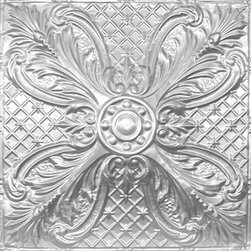 """Decorative Ceiling Tiles - Tropical Breeze - Aluminum Ceiling Tile - 24""""x24"""" - #2448 - Find copper, tin, aluminum and more styles of real metal ceiling tiles at affordable prices . We carry a huge selection and are always adding new style to our inventory."""