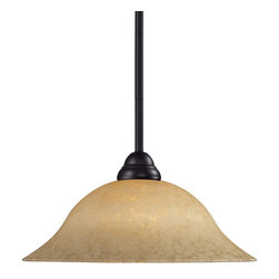 Z-Lite - Z-Lite Cobra Pendant Light X-61MG-ZRB-PM4112 - Elegant and traditional best describes this beautiful mini pendant fixture. Finished in bronze and paired with a golden mottle shade, this one light fixture would be equally at home in the game room, or anywhere else in the house needing a touch of timeless charm. Adjustable rods are included to ensure a perfect hanging height.