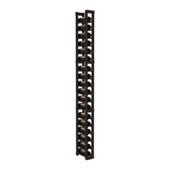 1 Column Standard Wine Cellar Kit in Pine with Black Stain