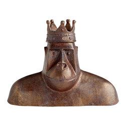 Cyan Design - King Kercheck Sculpture - King kercheck sculpture - acid brown.